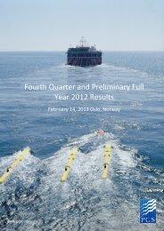 Q4 2012 earnings release - PGS