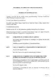 protokoll fra ordin,ðr generalforsamling sak 1 godkjennelse - PGS