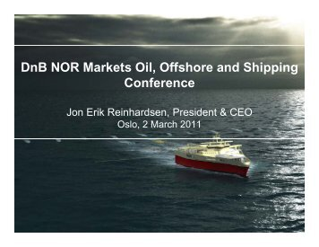 DnB NOR Markets Oil, Offshore and Shipping Conference - PGS