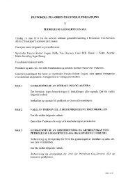 protokoll fra ordin,iðr generalforsamling sak 1 godkjennelse ... - PGS