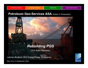 Lehman Bros. Presentation - PGS