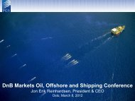 DnB Markets Oil, Offshore and Shipping Conference - PGS