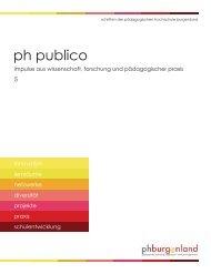 ph publico 5 - Pädagogische Hochschule Burgenland