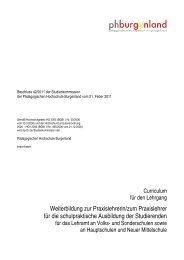 Curriculum - Pädagogische Hochschule Burgenland