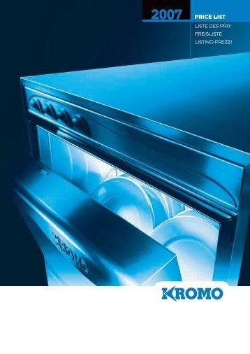 PRICE LIST - Dishwashers Direct