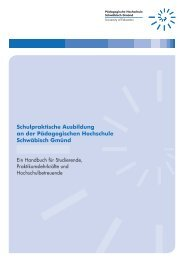 Handbuch Schulpraktische Ausbildung an der PH Schwäb. Gmünd