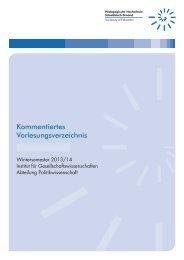 Politikwissenschaft WS 2013/14