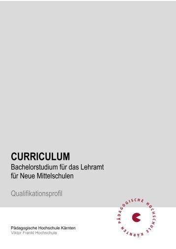 Qualifikationsprofil für das Lehramt an NMS - Pädagogische ...