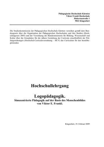 Logopädagogik - Pädagogische Hochschule Kärnten