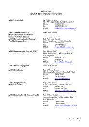 Liste der ARGE-Leiter abteilungsübergreifend