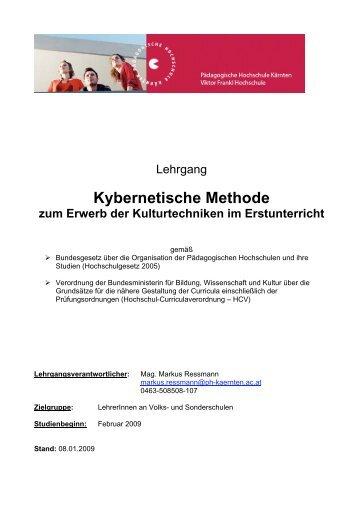 Kybernetische Methode - Pädagogische Hochschule Kärnten
