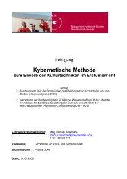 Kybernetische Methode zum Erwerb der Kulturtechniken im ...