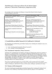 Details zur Durchführung des Zulassungsverfahrens
