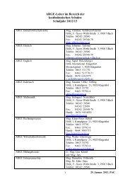 Liste der ARGE-Leiter an HAKs