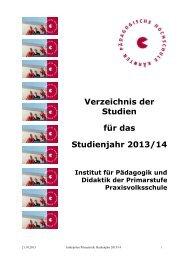 Primarstufe - Pädagogische Hochschule Kärnten