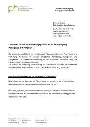 Leitfaden - Pädagogische Hochschule Karlsruhe