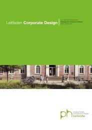 Leitfaden Corporate Design - Pädagogische Hochschule Karlsruhe