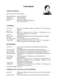 Lebenslauf - Pädagogische Hochschule Karlsruhe
