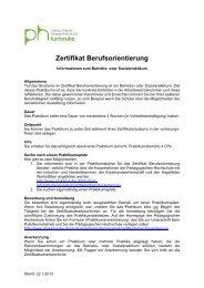 Handreichung zum Betriebs- und Sozialpraktikum - Pädagogische ...