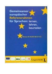 GER: Gemeinsamer europäischer Referenzrahmen für Sprachen