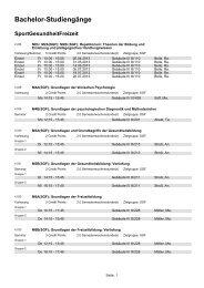 06 - Bachelor-Studiengänge - Pädagogische Hochschule Karlsruhe