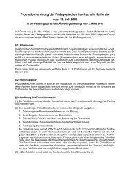 Promotionsordnung - Pädagogische Hochschule Karlsruhe
