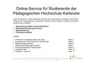Anleitung zur Benutzung des Online-Services - Pädagogische ...