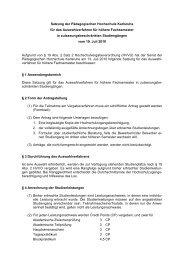 Satzung für das Auswahlverfahren für höhere Fachsemester in ...