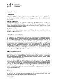 Drittmittelmerkblatt - Pädagogische Hochschule Karlsruhe