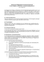 Deutschlandstipendium - Pädagogische Hochschule Karlsruhe