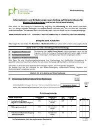 Informationen und Erläuterungen zum Antrag auf Einschreibung für ...