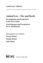 Animal Law – Tier und Recht - Pädagogische Hochschule Karlsruhe