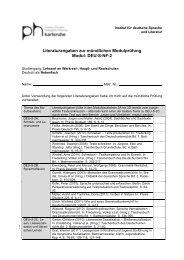 Literaturangaben zur mündlichen Modulprüfung Modul: DEU-S-NF-2