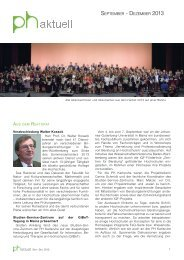 september - dezember 2013 - Pädagogische Hochschule Karlsruhe