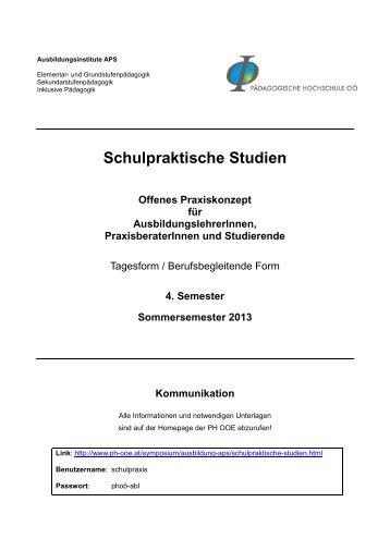 Schulpraktische Studien - Pädagogische Hochschule Oberösterreich