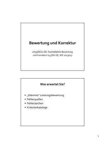 Unterlagen Seminar 1 (Präsentation Egger)