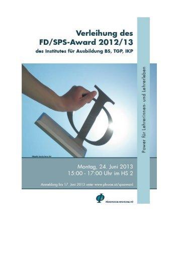 Broschüre Award 2012-13