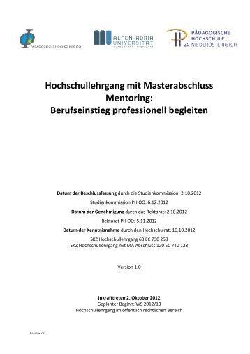 Curriculum - Pädagogische Hochschule Oberösterreich