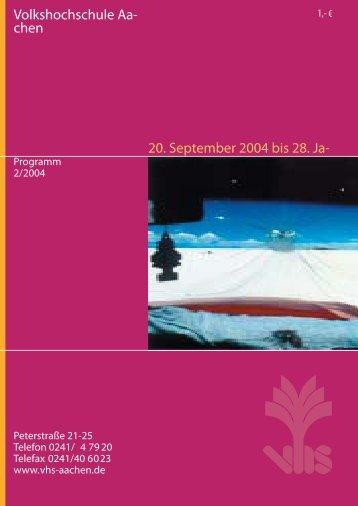 Herbstprogramm 2004 - Deutsches Institut für Erwachsenenbildung