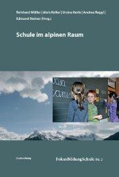 Schulen im aplinen Raum: Inhaltsverzeichnis - Pädagogische ...