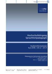 Workload - Pädagogische Hochschule Vorarlberg