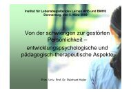 Dr. Haller, Von der schwierigen zur gestörten Persönlichkeit