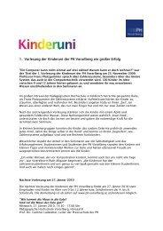 1. Vorlesung der Kinderuni der PH Vorarlberg ein großer Erfolg