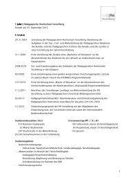 Eckdaten zur Pädagogischen Hochschule Vorarlberg