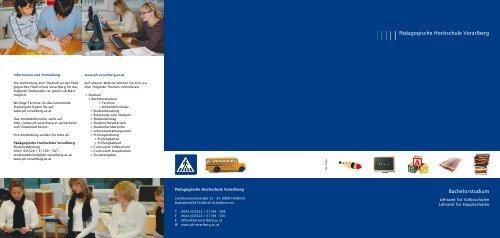 Maturant/inneninformation für das Bachelorstudium - Pädagogische ...