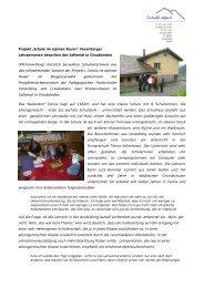 Schule alpin_Schulbesuche Safiental_201010 - Pädagogische ...