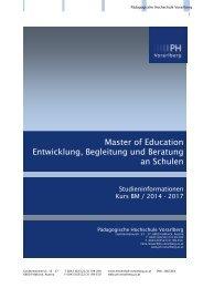 Studieninformationen - Pädagogische Hochschule Vorarlberg