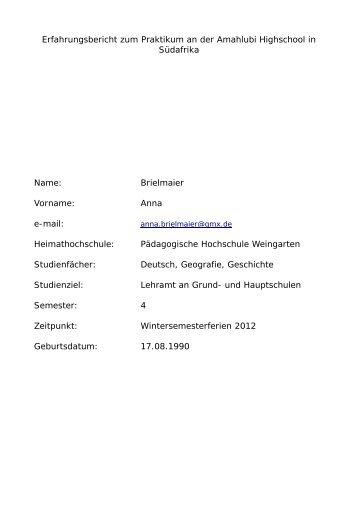 "Bericht zum Thema ""Fair Trade an Schulen und Hochschulen im ..."