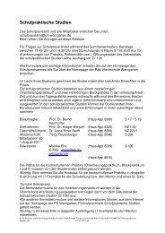 Schulpraktische Studien - Pädagogische Hochschule Weingarten
