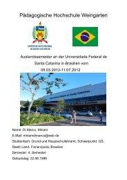 Bericht 5 (7/2012) - Pädagogische Hochschule Weingarten